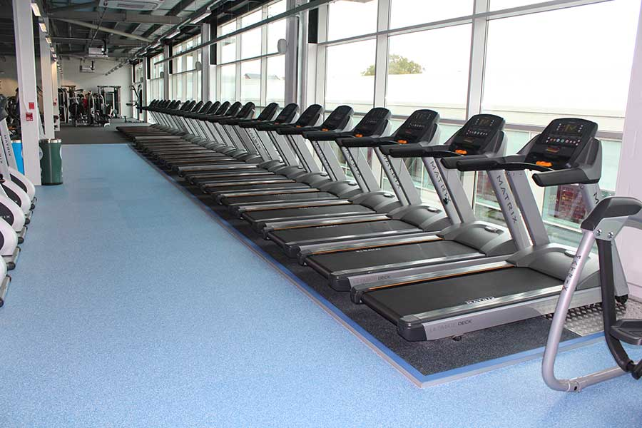 Acoustic testing within gyms