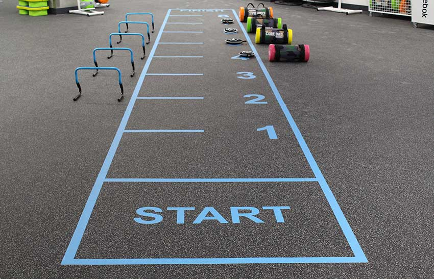 Gym Flooring Line Marking