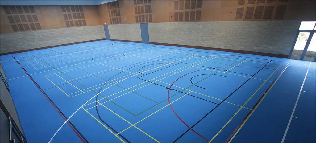 sports flooring case study Bryanston school