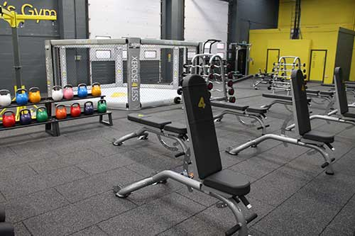 gym flooring case study Xercise4Less