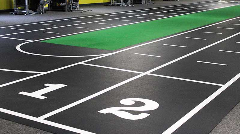 gym flooring sprint tracks