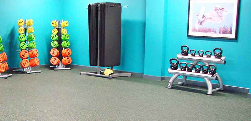 how thick should home gym flooring be