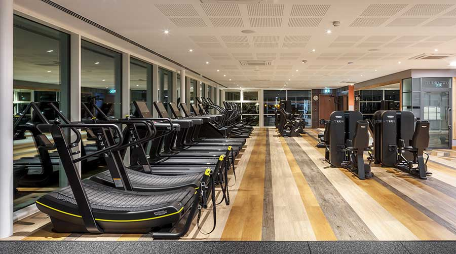 how to reduce noise and vibration within a gym