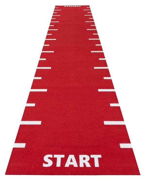 Sportec powerturf sprint track flooring red